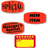 Promotional Labels and Signs