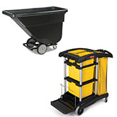 Janitorial Carts and Tilt Trucks