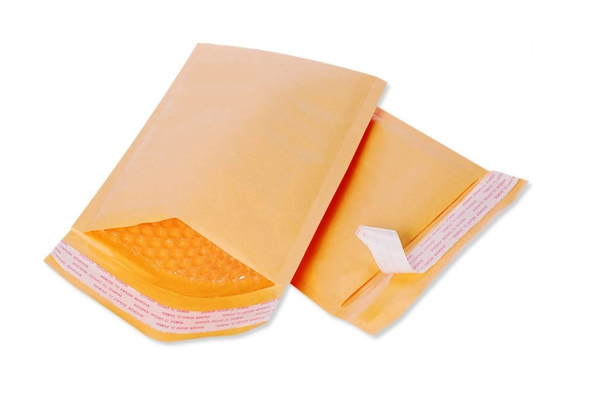 "Air-Kraft Bubble Mailer - 4"" x 8"", Self Seal, 500/Case"