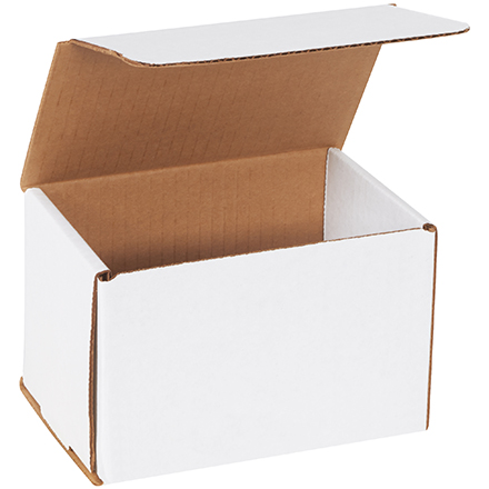 "Corrugated Mailer - 6"" x 4"" x 4"", White, 50/Bundle"