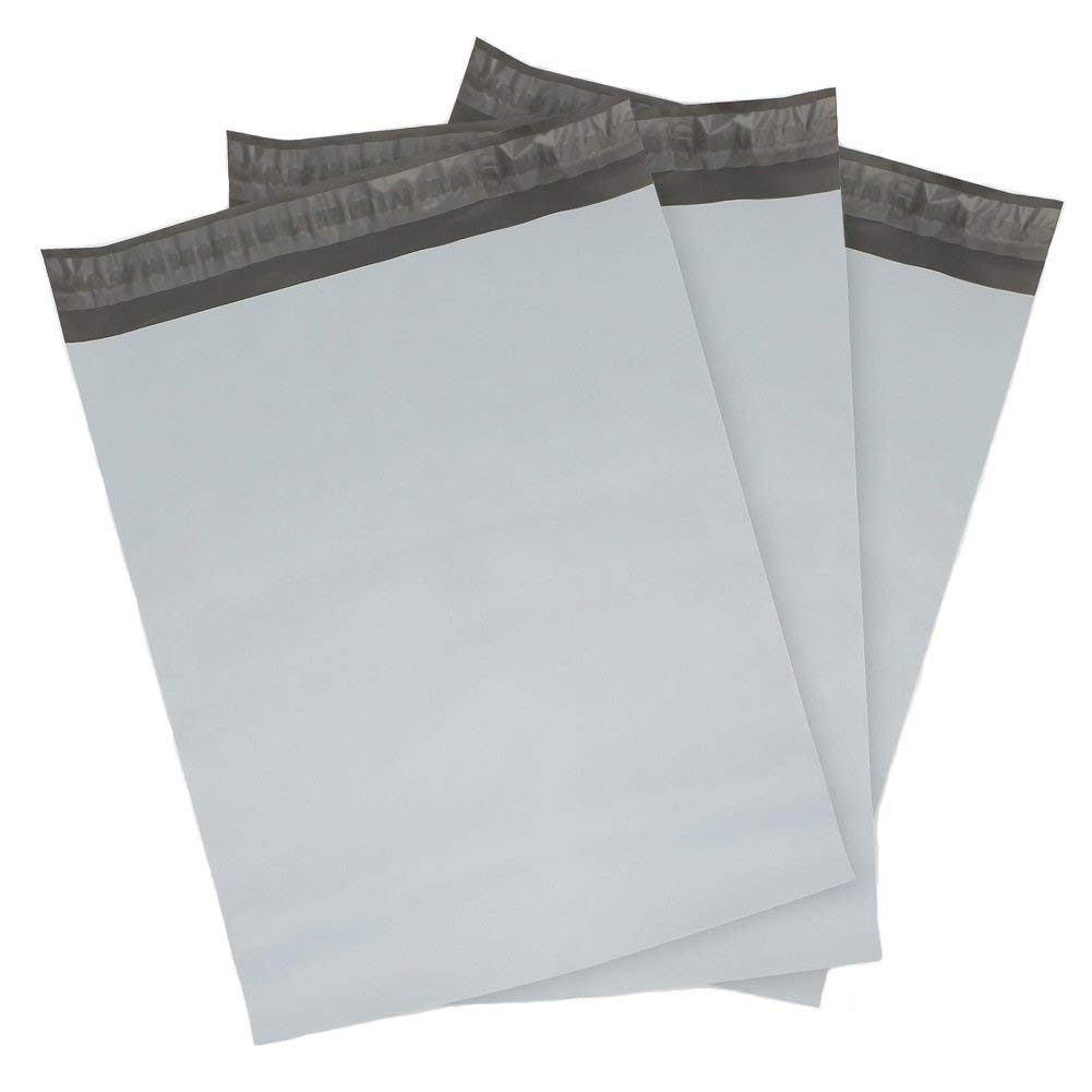"Poly-Lite Poly Mailer - 14.5"" x 19"", Self Seal, White/Gray, 250/Case"