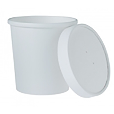 Flexstyle® DSP Paper Food Containers & Lids - 16 oz.