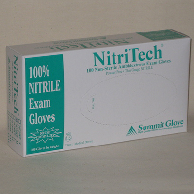 NitriTech® Examination Grade Gloves, Powder Free, 4 mil, Extra-Large, 500 pairs