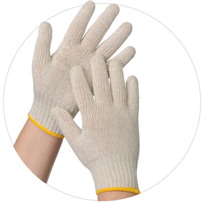 Tradex® Ambitex Pro® Natural String Knit Gloves, White, 12 pairs