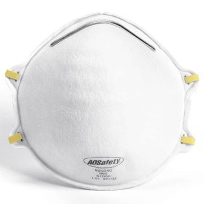 Particulate Respirator, N95, White, 15 masks