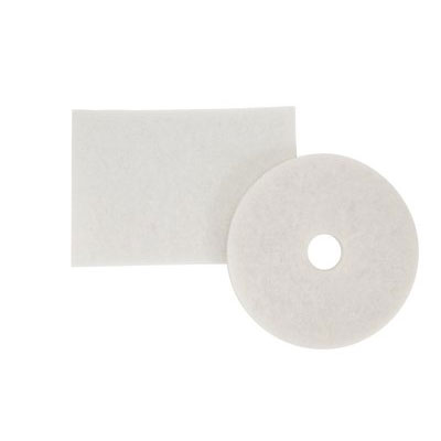 3M™ White Super Polish Pad 4100, Round, 17 in, 5 pads