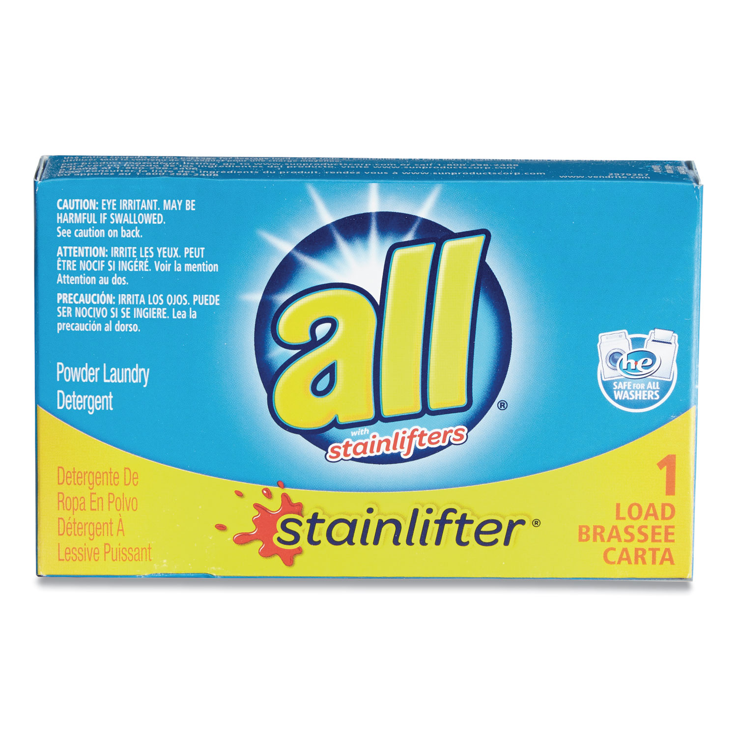 All Ultra HE Coin-Vending Powder Laundry Detergent - 1 Load, 100 Boxes/Case