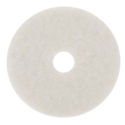 3M™ White Super Polish Pad 4100, 12 in, 5 pads