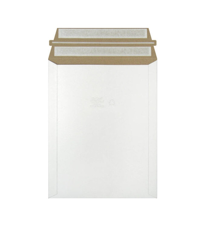 Mailjacket Rigid Mailer - 12.75 x 15, Self Seal, White, 100/Case