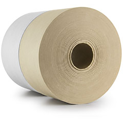 Central® 250 Medium Duty Reinforced Water Activated Tape - Natural, 64 mm x 137 m, 6.4 mil, 12/Case