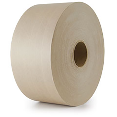 Venom® Light Duty Reinforced Paper Water Activated Tape - Natural, 70 mm x 137 m, 5.3 mil, 10/Case
