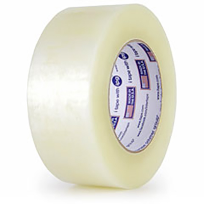 Intertape® 9100 Premium Hot Melt Case Sealing Tape - Clear, 72mm x 55m, 2.5 mil, 24/Case