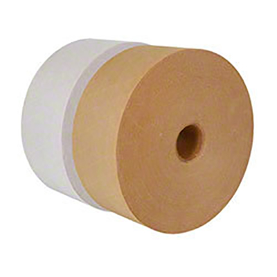 Central® 270 Heavy Duty Reinforced Water Activated Tape - Natural, 72 mm x 137 m, 10.5 mil, 10/Case