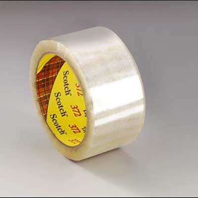 Scotch® Box Sealing Tape 372, Clear, 2.2 mil