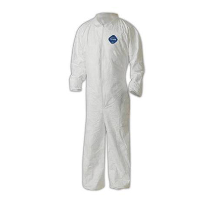 Dupont™ Tyvek™ CVC11 Coveralls with Elastic, White, 5XL, 25 suits