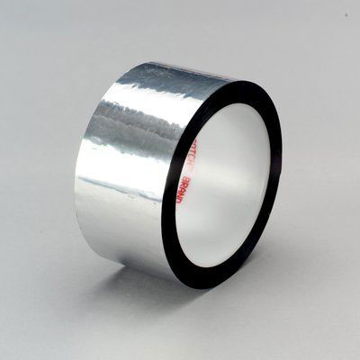 3M™ Polyester Film Tape 850, Silver, 2 in x 72 yd, 1.9 mil, 24 rolls