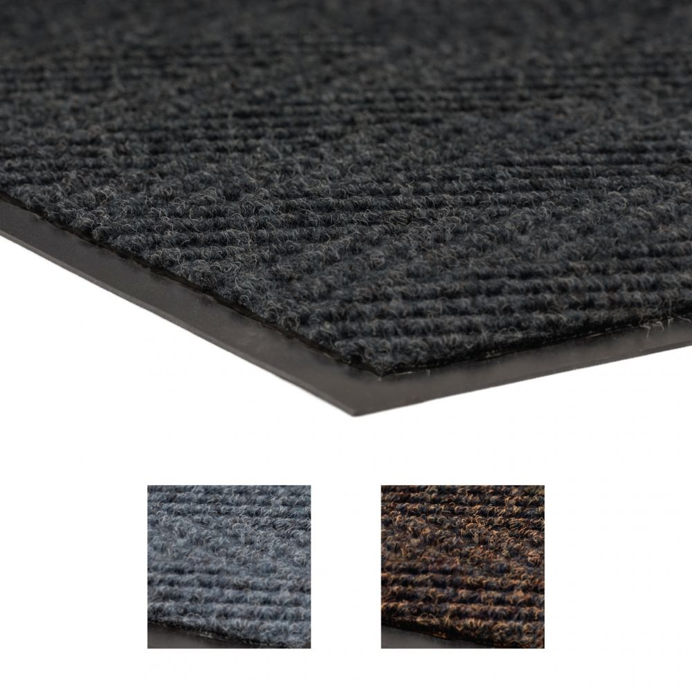 Chevron Entrance Mat - Browm, 6' x 6', 5/16""