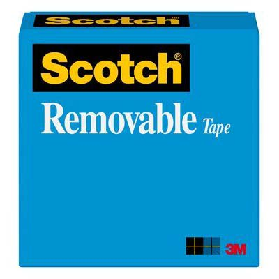 Scotch® Removable Tape 811 - 3/4in x 72 yd Boxed