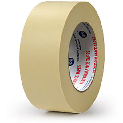 American® PG21 High Temperature Paper Masking Tape, Tan, 18 mm x 55 m, 7.3 mil, 48 rolls
