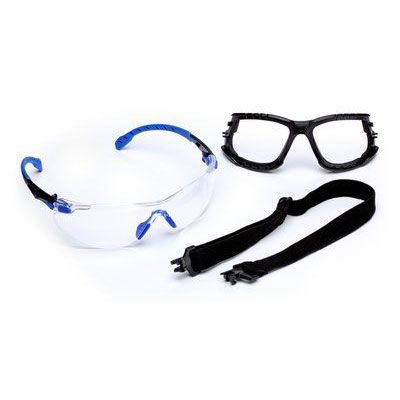 3M™ Solus™ 1000-Series Safety Glasses Kit, Blue/Black, Clear Scotchgard™ Anti-Fog Lens, 1 kit