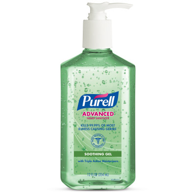 Purell® Advanced Hand Sanitizer Aloe  Gel - 12oz Table Top Pump Bottle