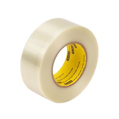 Scotch® 8919MSR Filament Tape, Clear, 7 mil