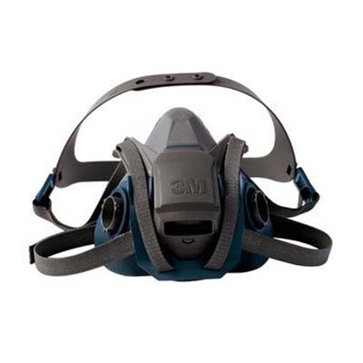 3M™ Rugged Comfort Quick Latch Half Facepiece Reusable Respirator, 10 masks
