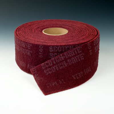 Scotch-Brite™ Clean and Finish Roll, Maroon, 18 in x 30 ft, T VFN