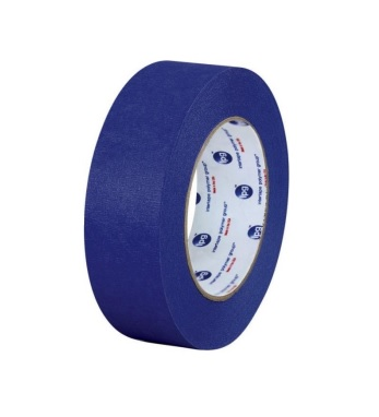 Intertape™ UV-Resistant Specialty Paper Masking Tape - 48mm x 55m, Blue, 24/Case