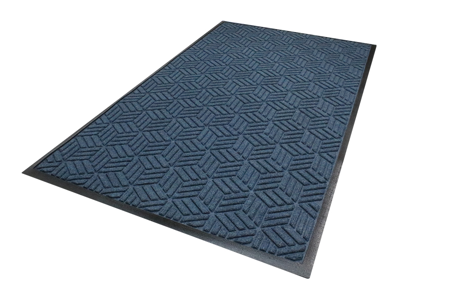 WaterHog Entrance Mat - Classic Border, Charcoal, 4' x 10', 3/8""