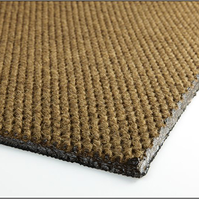 Berber Roll Goods Mat - Singed Edge, Dark Brown, 5.9' x 5.4', 3/8""