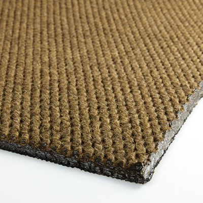 Berber Roll Goods Mat - Singed Edge, Dark Brown, 6' x 5.5', 3/8""