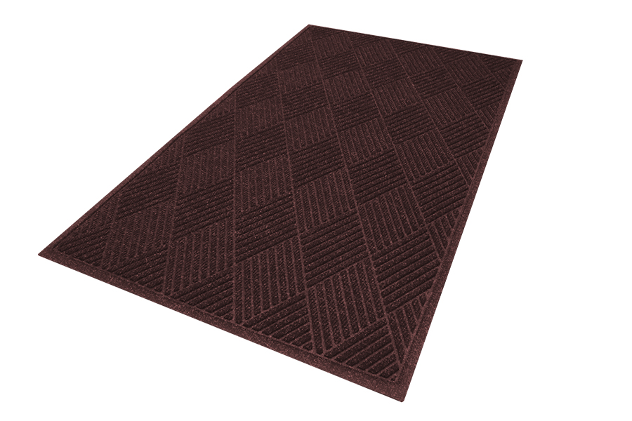 WaterHog™ Eco Premier Entrance Mat -  Fashion Border, Chestnut Brown, 6' x 12.2', 3/8""