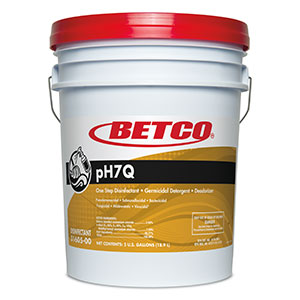 Betco pH7Q Disinfectant - 5 Gal. Pail