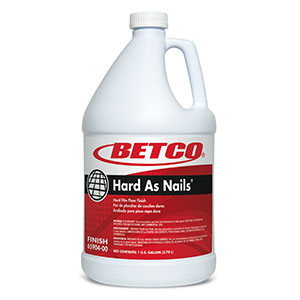 Betco Hard As Nails Hard Film Floor Finish - 1 Gallon, 4/Case