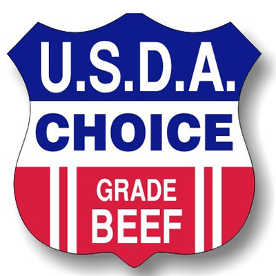 U.S.D.A. Choice Beef Shield Labels - Item #10024