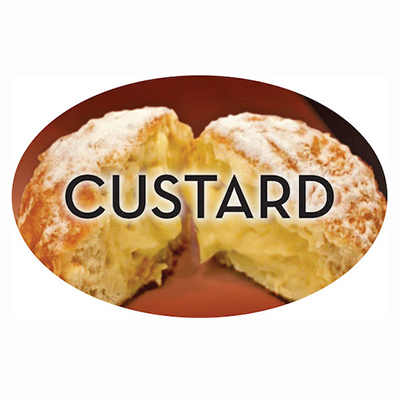Custard Label   500/roll