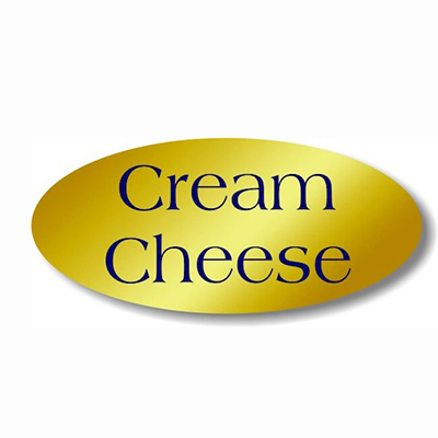 Cream Cheese Gold Foil Label 500/rl