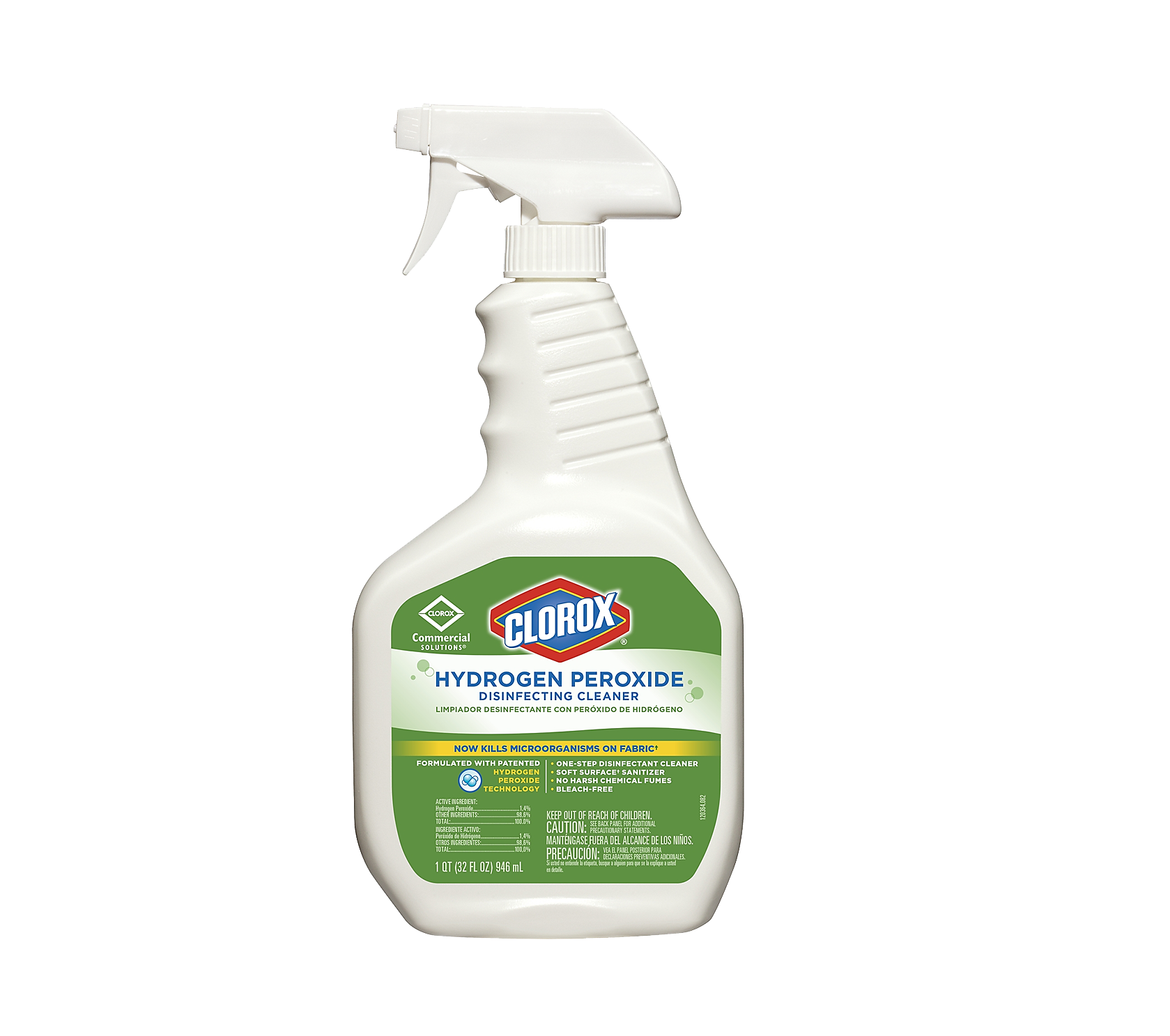 Clorox Hydrogen Peroxide Disinfecting Cleaner - 32 oz., 9/Case