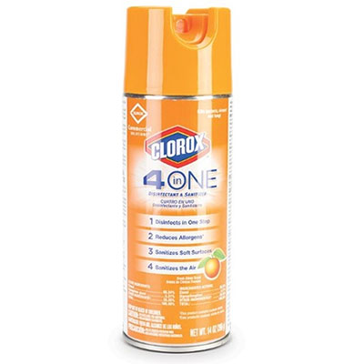 Clorox® 4 in One Disinfectant & Sanitizer, 14 oz, 12 aerosols