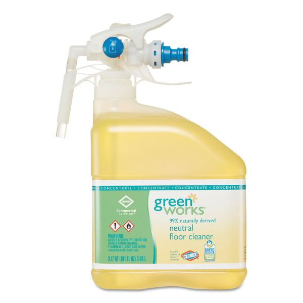 Green Works Neutral Floor Cleaner Concentrate, 101-oz, 2 Bottles