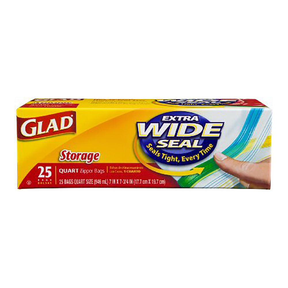 Glad Ziploc Bags Quart 12/20ct