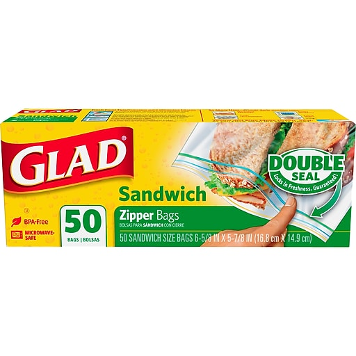 Glad® Sandwich Zipper Bags - 50 count