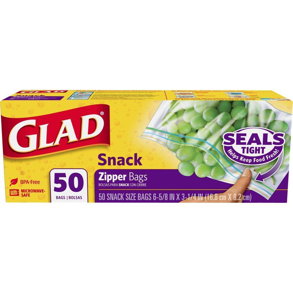 Glad® Food Storage Zipper Bags - 50 count, Snack