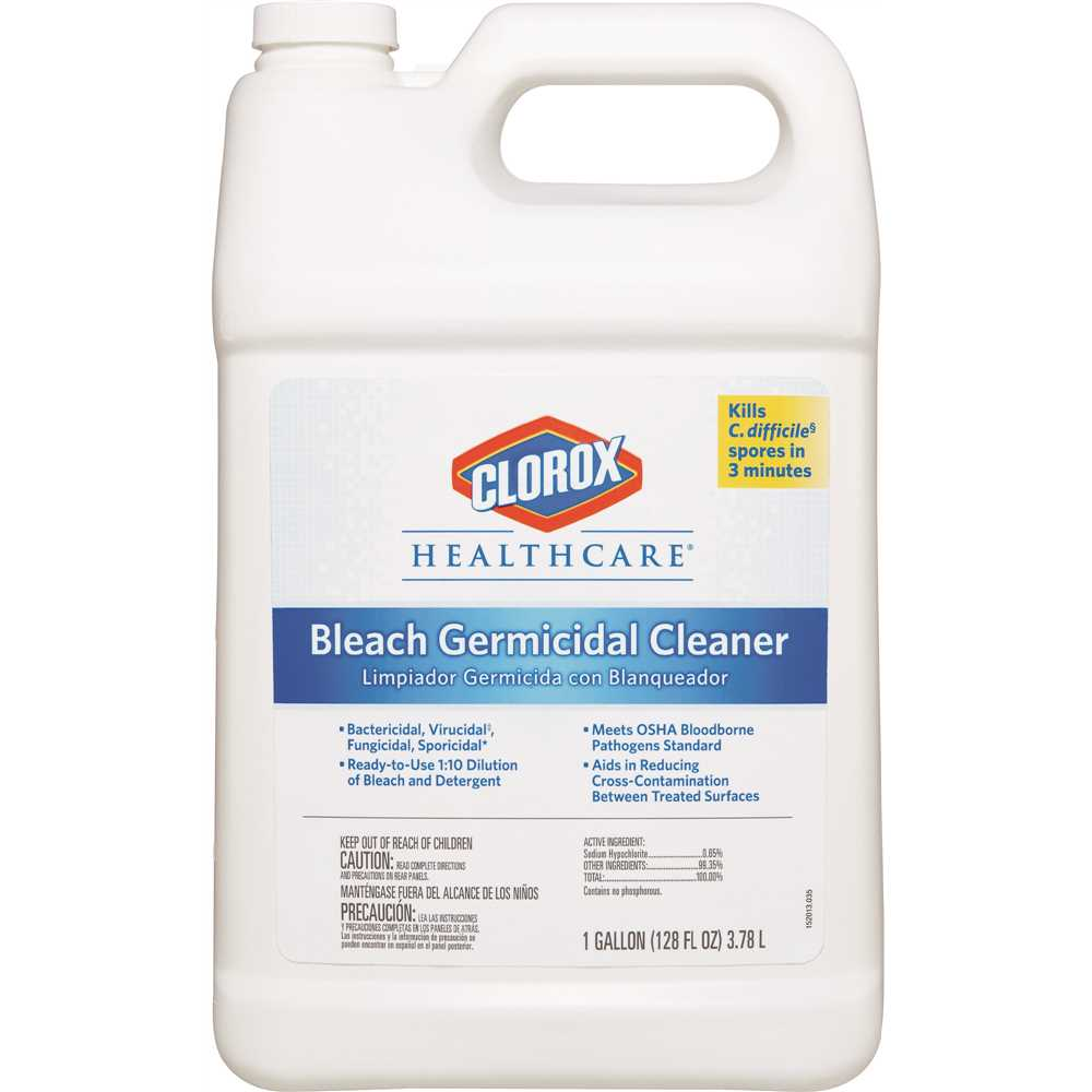 Clorox Healthcare® Bleach Germicidal Cleaners - 128 oz