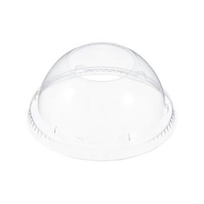 Dart® Dome Lid with Hole - 4.2in, Clear