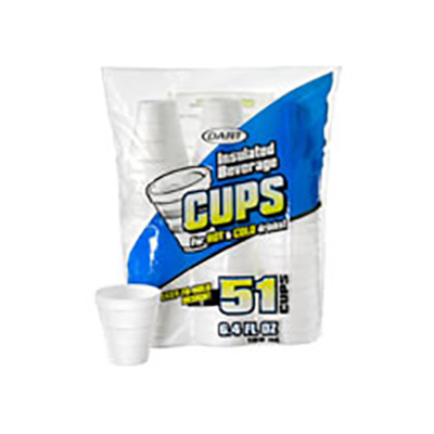 Dart® Insulated Easy -to-Hold Foam Cup - 6.4oz,  Consumer Packaged