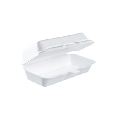 Dart® Insulated Hot Dog Container - White