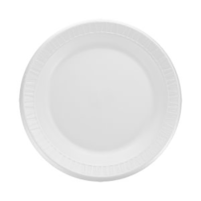 Quiet Classic® Laminated Foam Plate - 9in, White, Reduced Cube