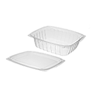 ClearPac® Plastic Container with Flat Lid - 24oz, Clear